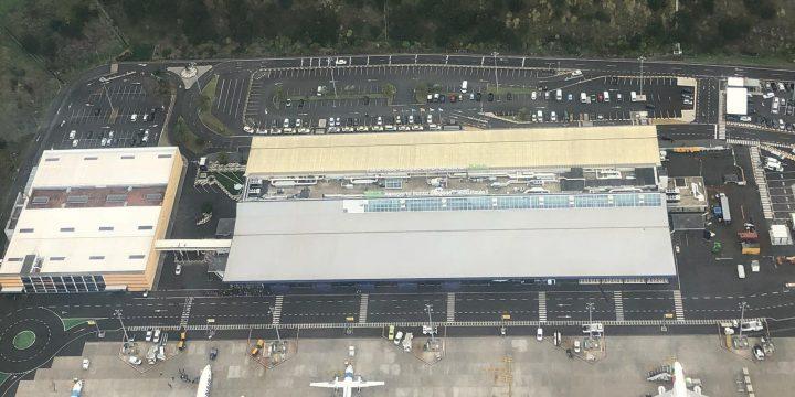 "Empreitada ""Aeroporto João Paulo II – Cobertura da Aerogare – Lado Ar"""